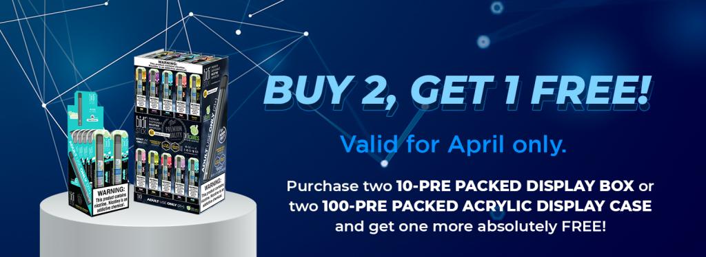 pop-up - buy 2, get 1 free